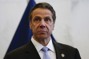 New York Governor M. Cuomo stands during a news conference following a bi-state meeting on regional security and preparedness in New York