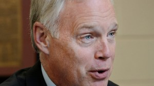 U.S. Sen. Ron Johnson, R-Wis., said on Tuesday, Oct. 14, 2014, in Eau Claire, Wis., that the Ebola outbreak in Africa and the rise of the Islamic State are global issues that pose a major threat to U.S.security. (AP Photo/Eau Claire Leader-Telegram, Dan Reiland)
