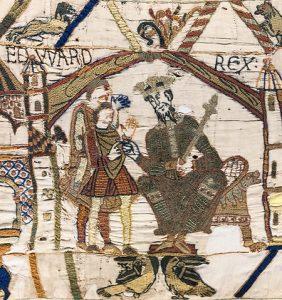 Tapisserie de Bayeux - Scène 1 : le roi Édouard le Confesseur