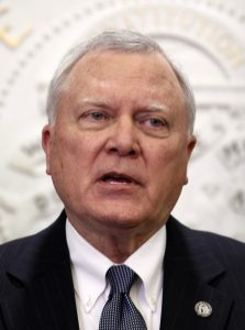Georgia Governor Deal speaks to the media at the State Capitol in Atlanta