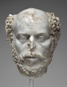 Portrait Head of a Balding Man