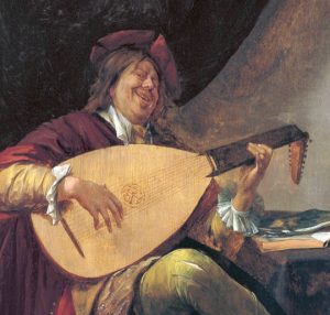 Self-Portrait playing the Lute