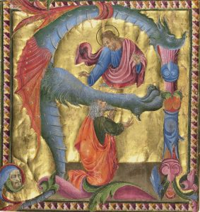Initial A: Christ Appearing to David