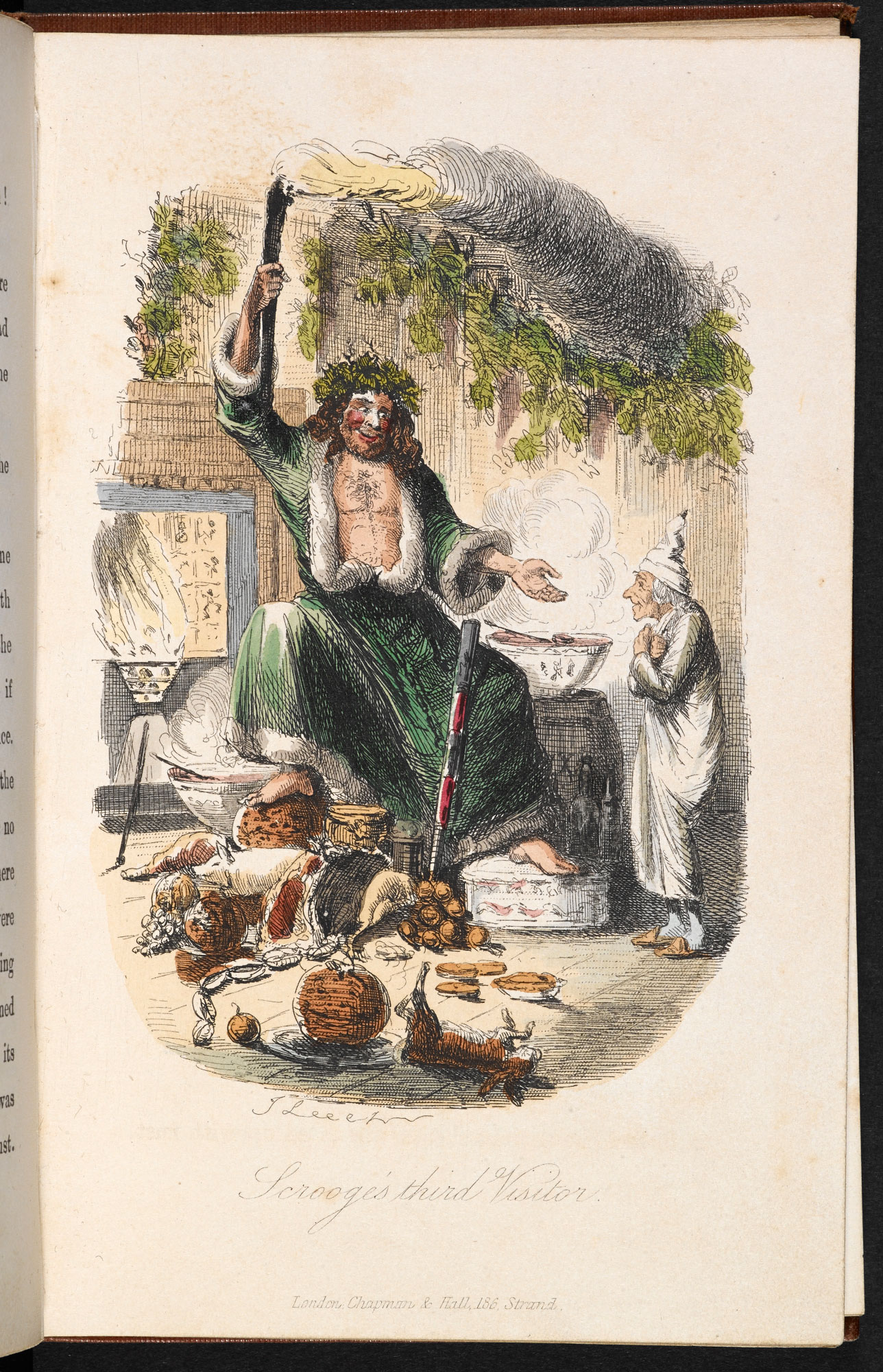 the famous spirit of christmas designed by the artist john leech for the first edition of a christmas carol clearly draws on classic pagan iconography - A Christmas Carol First Edition