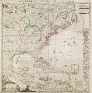 map of the british empire in america with the french and spanish settlements map by henry popple 1733 courtesy of the john carter brown library at brown