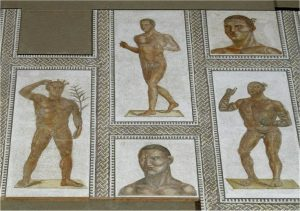 Baths Of Caracalla Mosaics Of Athletes And Gladiators / Wikimedia Commons