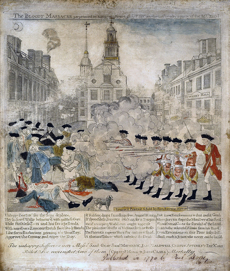 From The Boston Massacre To The Boston Tea Party Massachusetts