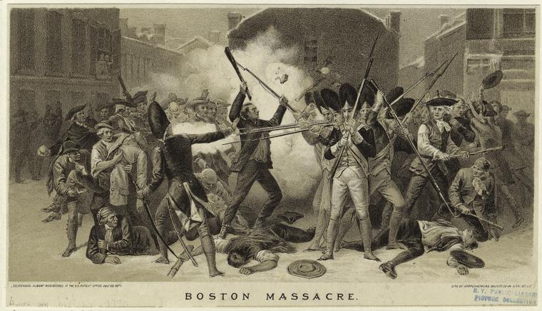 the american revolution boston as catalyst tensions culminate british perspective of the boston massacre printed by alonzo chappel new york public library