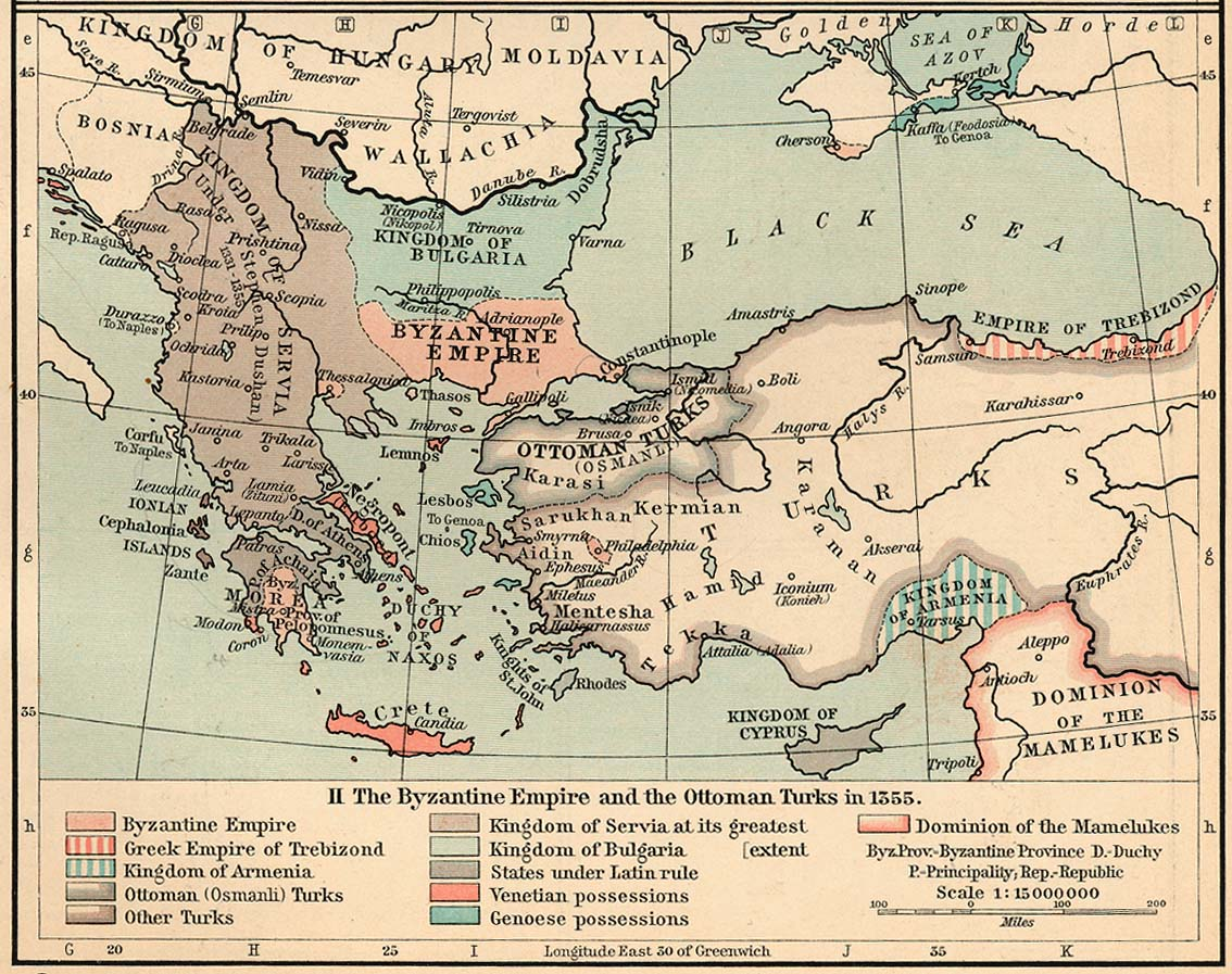 Survival in the roman eastern byzantine empire circumstances of the survival of the east the paleologoi map showing greece and turkey under byzantine publicscrutiny Choice Image