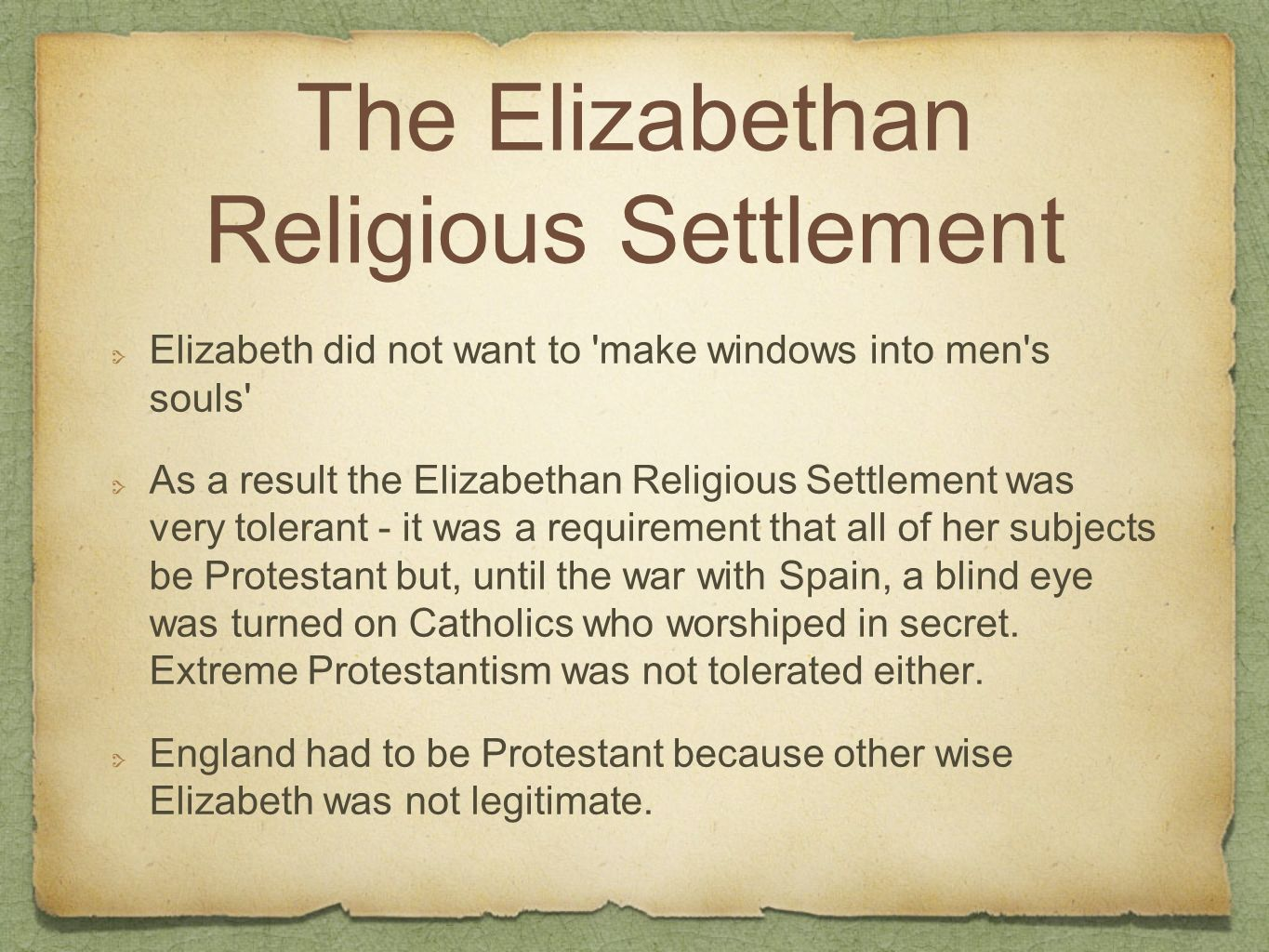 What Was the Elizabethan Religious Settlement?
