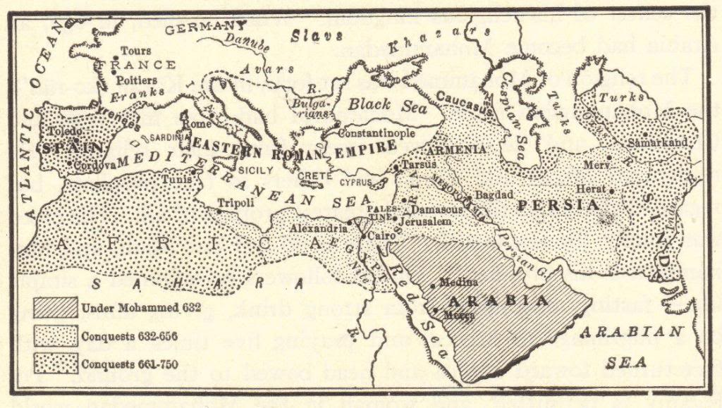 Mohammed Arab Conquests Islamic Conquests And Civil War In The - Germany map middle ages
