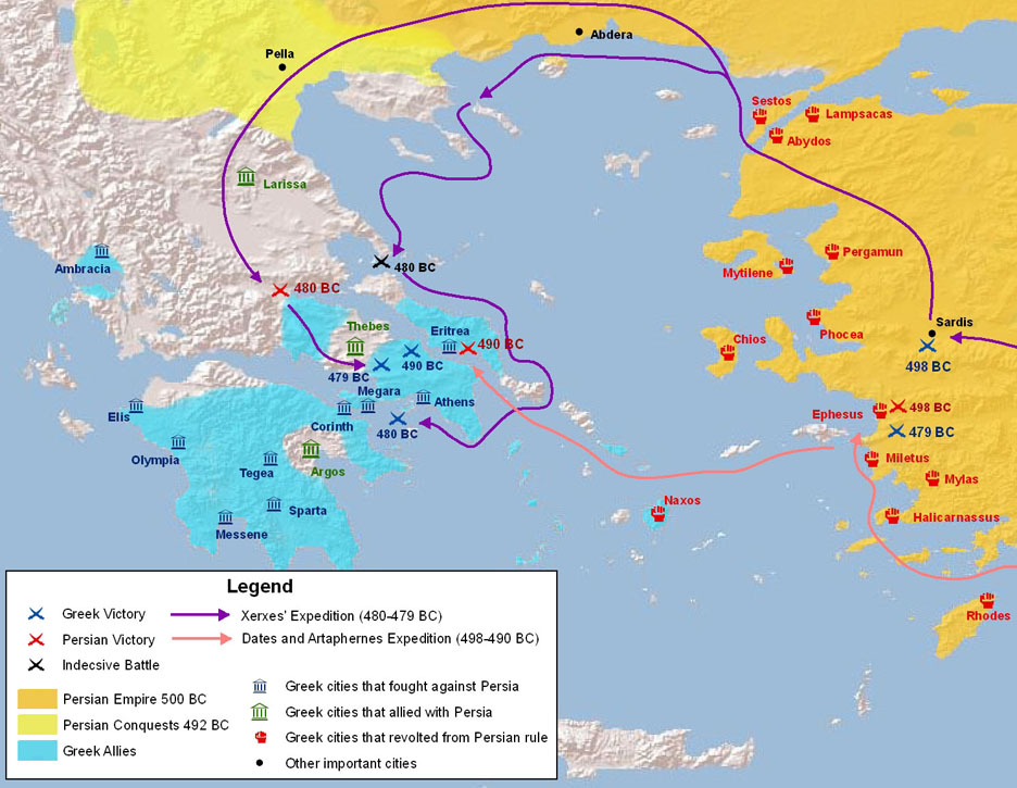 the history role and significance of sparta and athens in persian wars Persian wars oral history forces near the island of salamis close to athens and face the persian navy in the straits between herodotus and the persian wars.