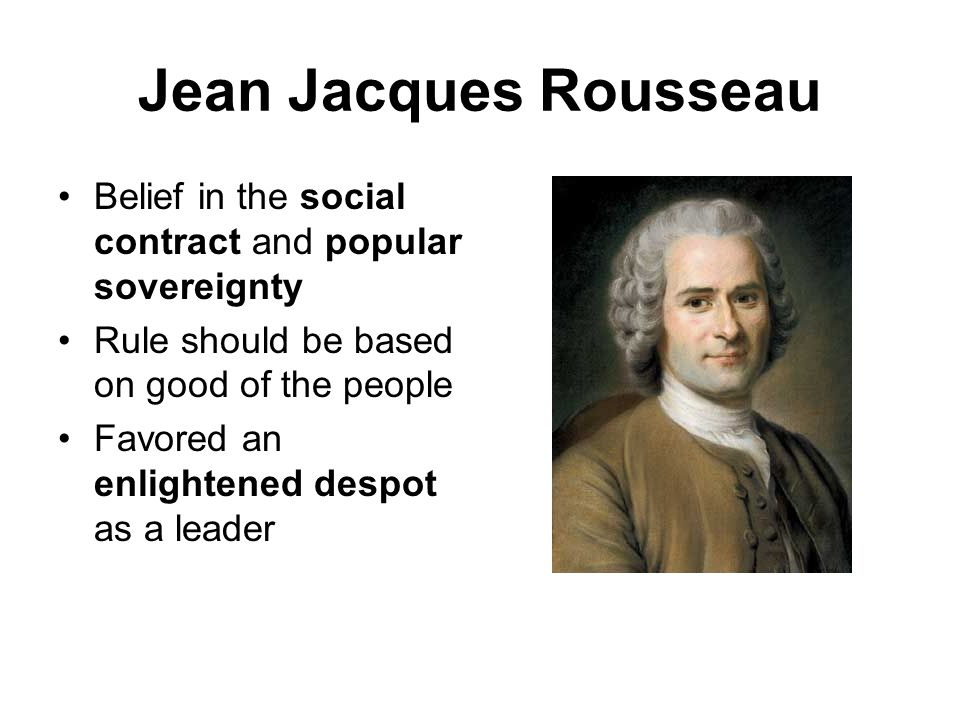 the views of jean jacques rousseau on religion The tenets of rousseau's civil religion include the  the structure of religious  beliefs within the just state is that of an.