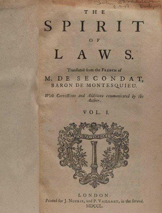 on the spirit of laws pdf