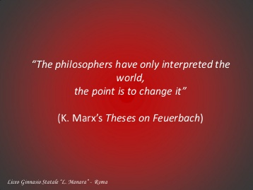 karl marx theses on feuerbach explanation