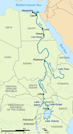 africa map showing river nile