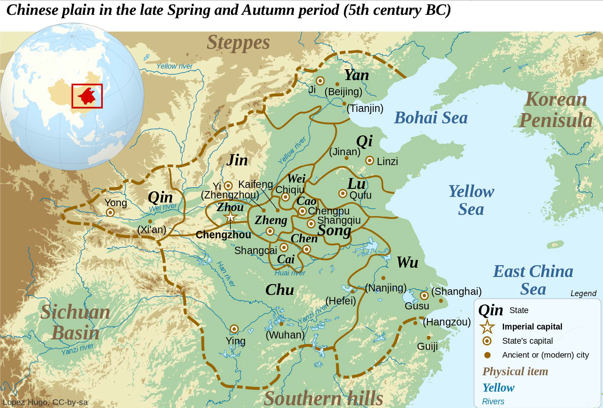 History of china and east asia to the ming dynasty map 47 eastern zhou states fifth century map of the eastern zhou states as they looked during the fifth century bce the zhou kingdom itself had sciox Gallery