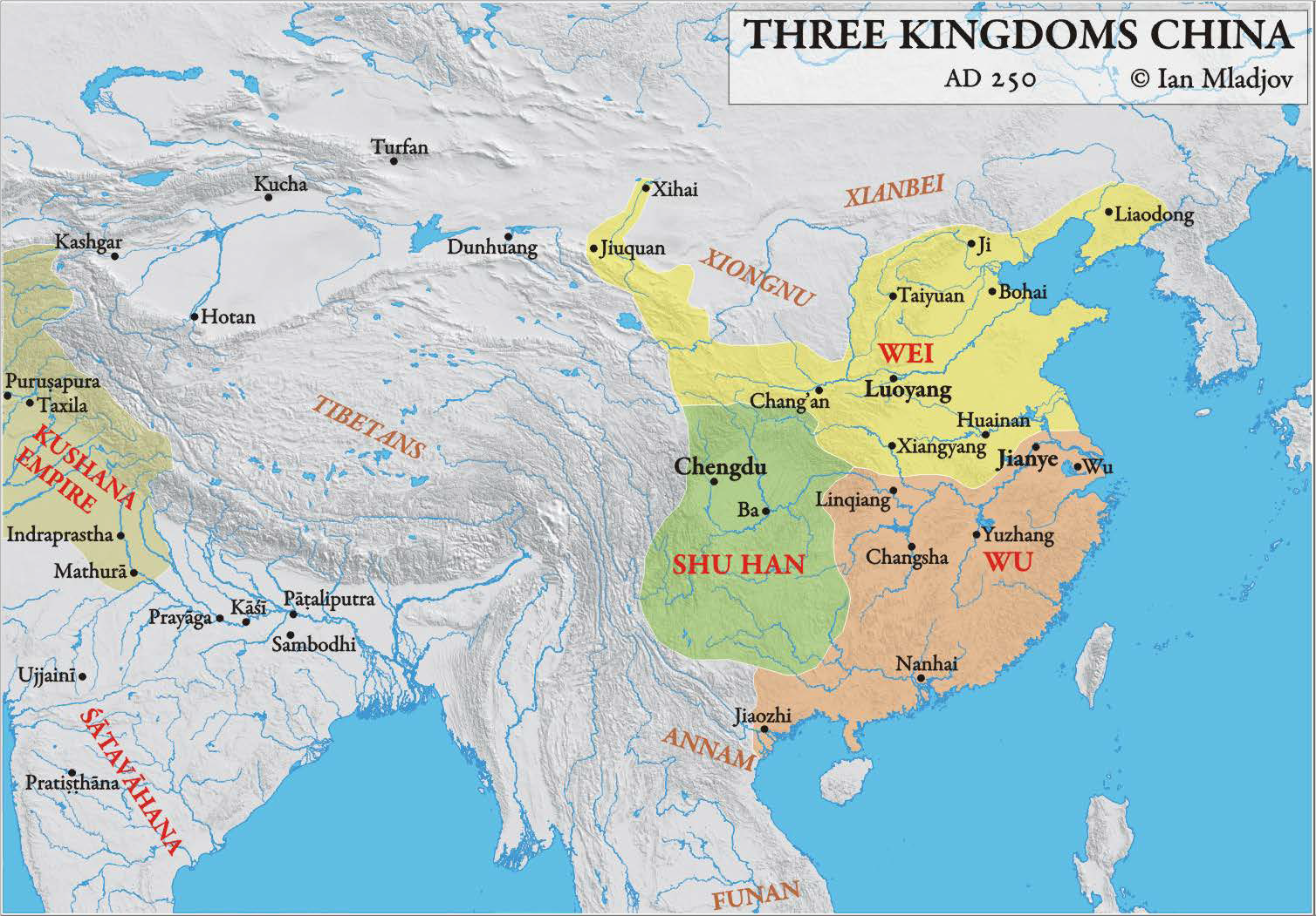 History of china and east asia to the ming dynasty it was his son who removed the last han ruler and established the wei way dynasty 220 265 ad one of the three kingdoms see map 412 sciox Gallery