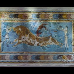late minoan painting frescoes pottery and other representational art