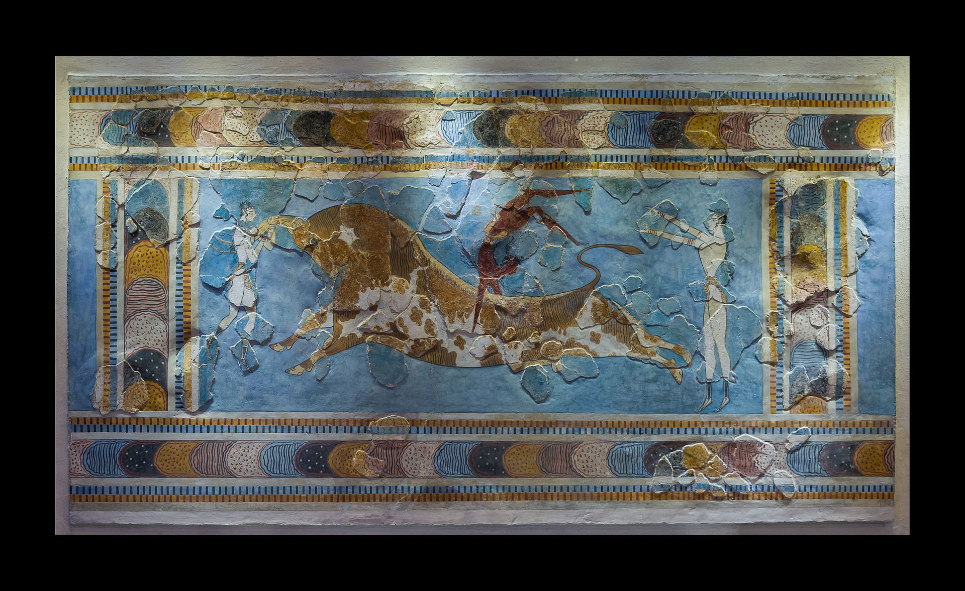 Late minoan painting frescoes pottery and other for The art of painting
