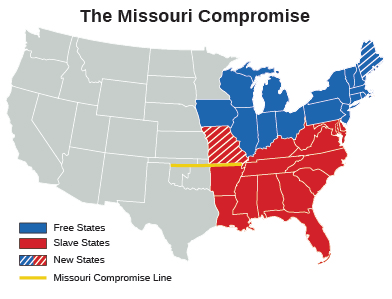 figure 118 the missouri compromise resulted in the district of maine which had originally been settled in 1607 by the plymouth company and was a part of