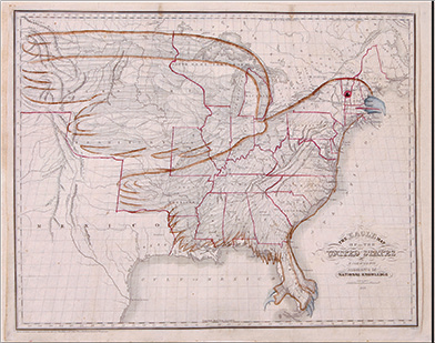 figure 119 by the early 1830s all the lands east of the mississippi river had been settled and admitted to the union as states the land west of the river