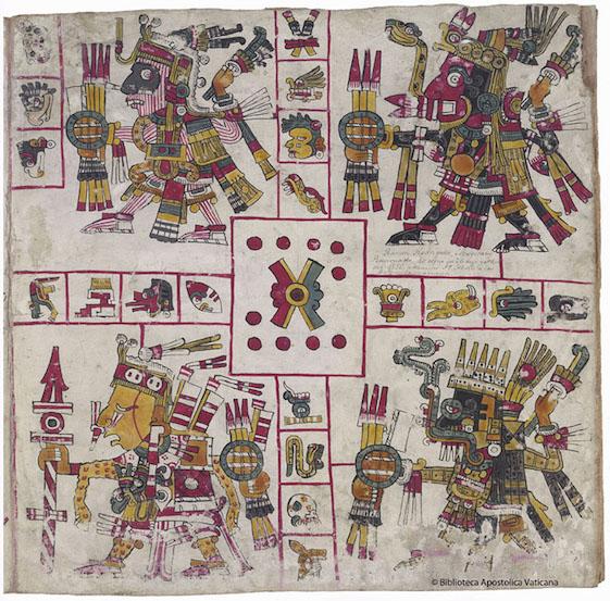 The Codex Borgia A Post Classic Aztec Manuscript