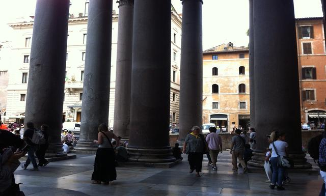 an analysis of the roman pantheon In front of the grand, majestic temple of the pantheon – converted into the church of sancta maria ad martyres in the middle ages – there used to be a fountain with a basin made of porphyry stone (a kind of marble that in antiquity was used only for members of the emperor's family), flanked by.