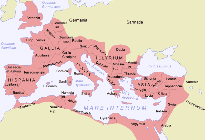 An introduction to ancient egypt greece and rome map of the roman empire during the reign of the emperor trajan gumiabroncs Images