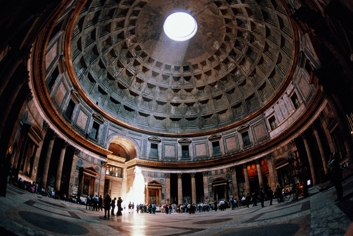 the construction of the ancient roman pantheon