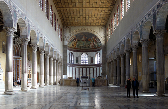 The Influence of Medieval Christian Liturgy on Architecture Santa Sabina Interior