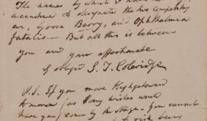Coleridge Letter From A Friend Biographia Literaria