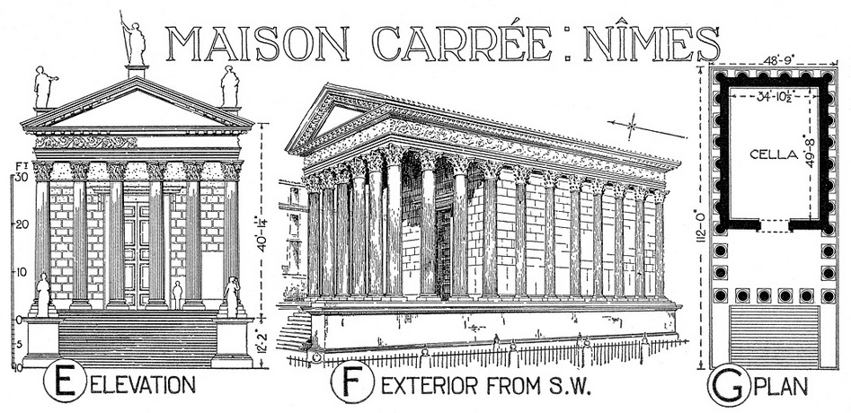 The maison carr e ancient roman temple in n mes - Maison carree nimes ...