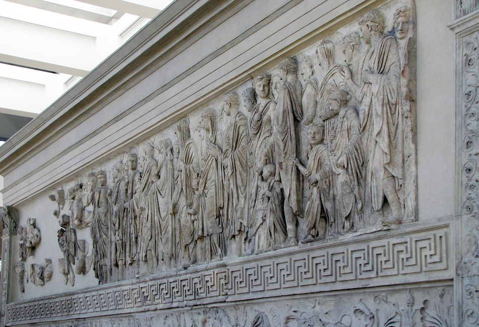The Ara Pacis Augustae (Altar of Augustan Peace)
