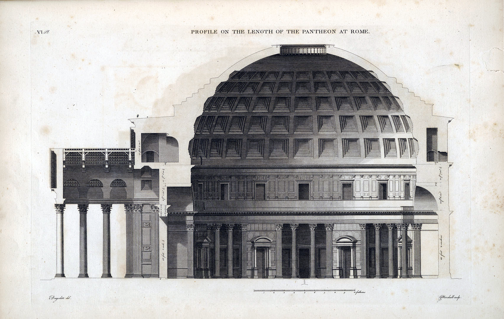 How To Draw A Floor Plan For A House The Roman Pantheon Eighth Wonder Of The Ancient World