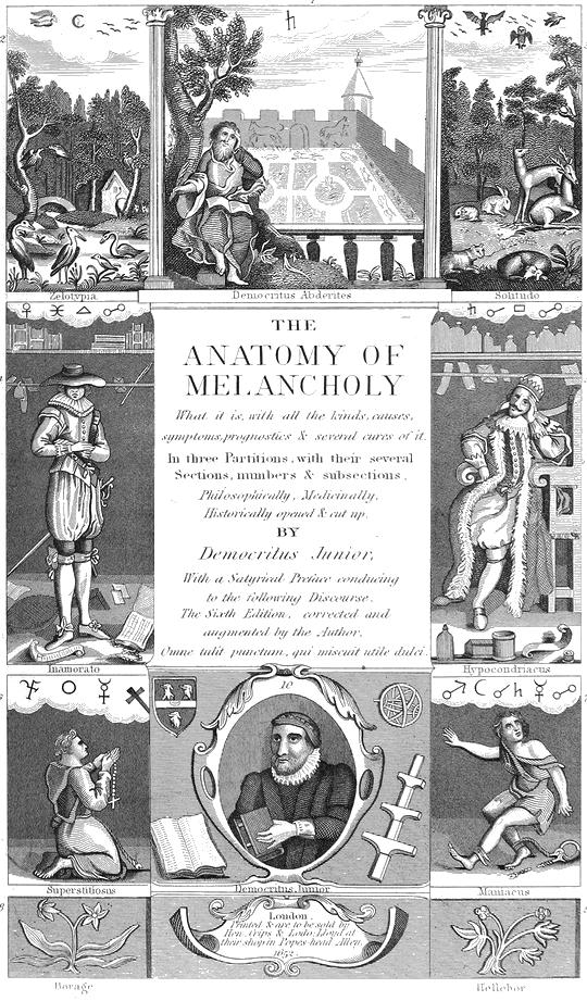 Charmant Die Anatomie Der Melancholie Von Robert Burton Ideen ...