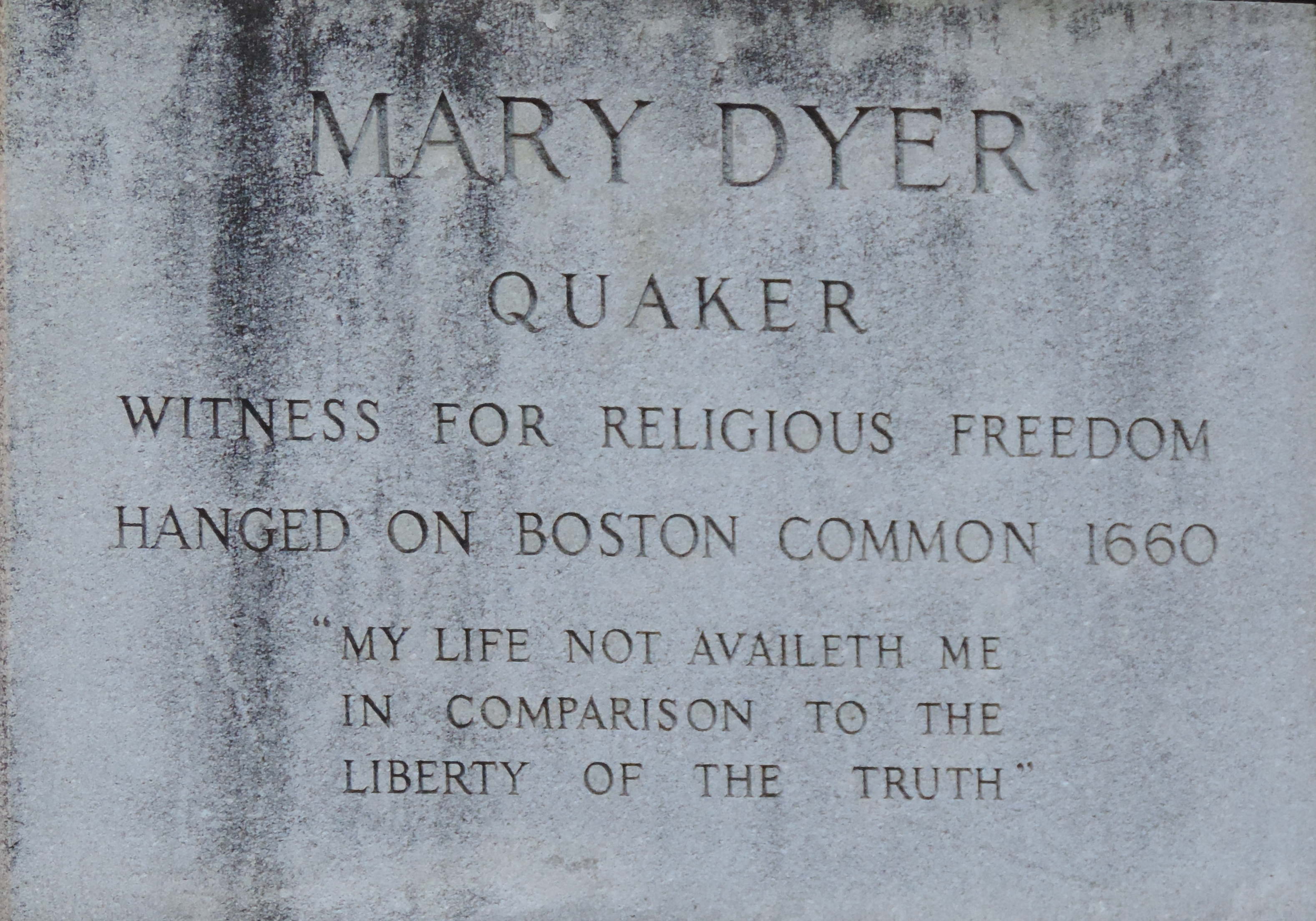 Defying History >> When the Puritans Killed Mary Dyer: 'She Did Hang as a Flag', Indeed