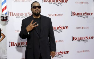 "Cast member Ice Cube poses at the premiere of ""Barbershop: The Next Cut"" at TCL Chinese theatre in Hollywood"