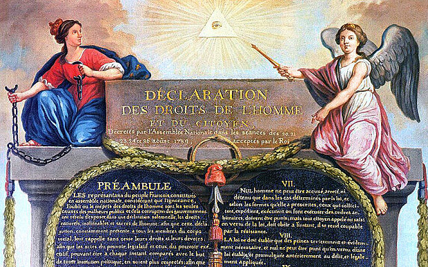 France Declaration of the Rights of Man and of the Citizen 1789 poster print