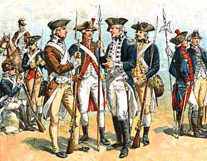 Changes In The Uniform Of The Continental And Later U S