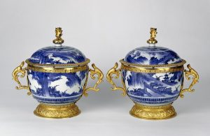 Pair of Lidded  Bowls