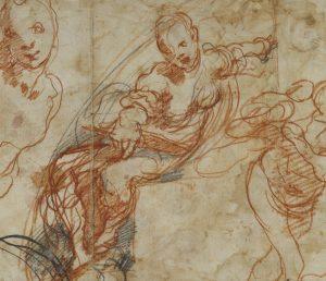 Design for a Circular Dish (recto); Figure Studies (verso)