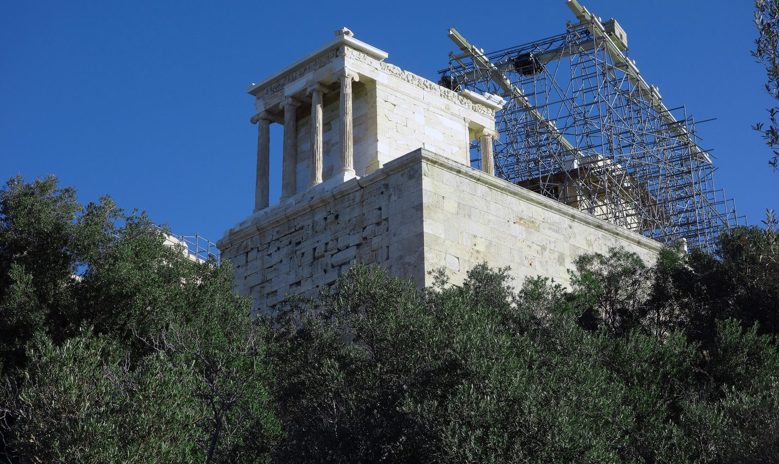 Temple Of Athena Nike On The Athenian Acropolis