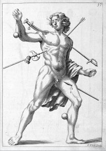L0009988 R. White, 'wound man', 1678.