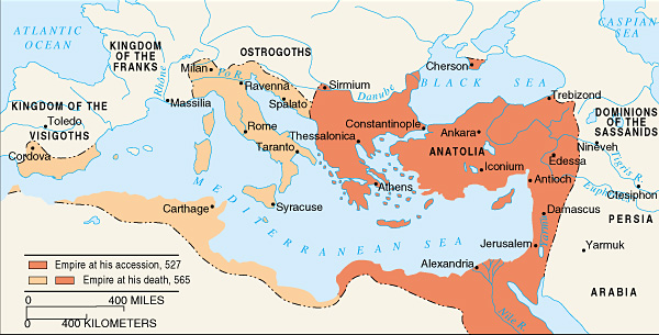 eastern roman empire map Survival In The Roman Eastern Byzantine Empire Brewminate eastern roman empire map