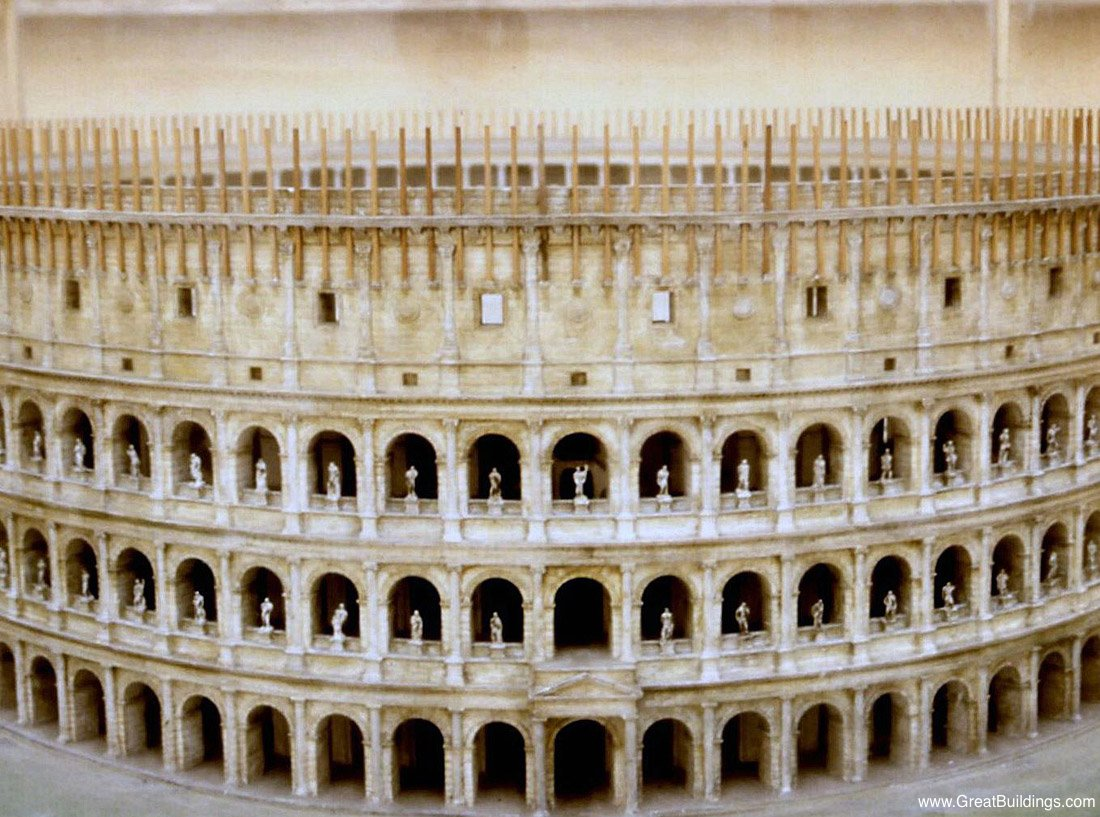 The Colosseum And Contemporary Architecture In Rome