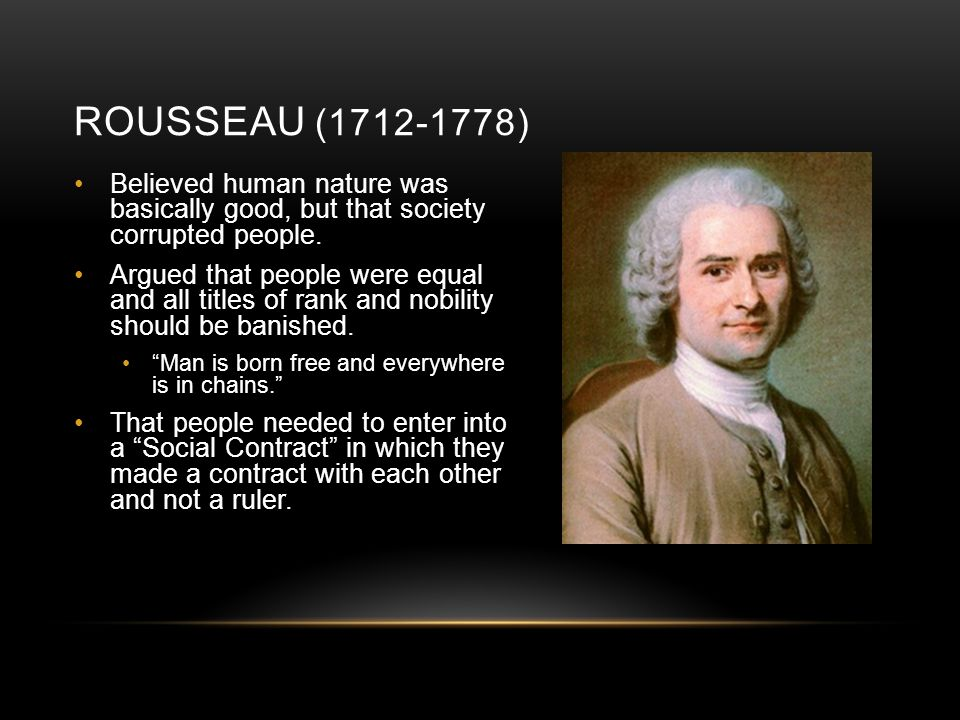 Jean Jacques Rousseau Popular Sovereignty General Will State Of