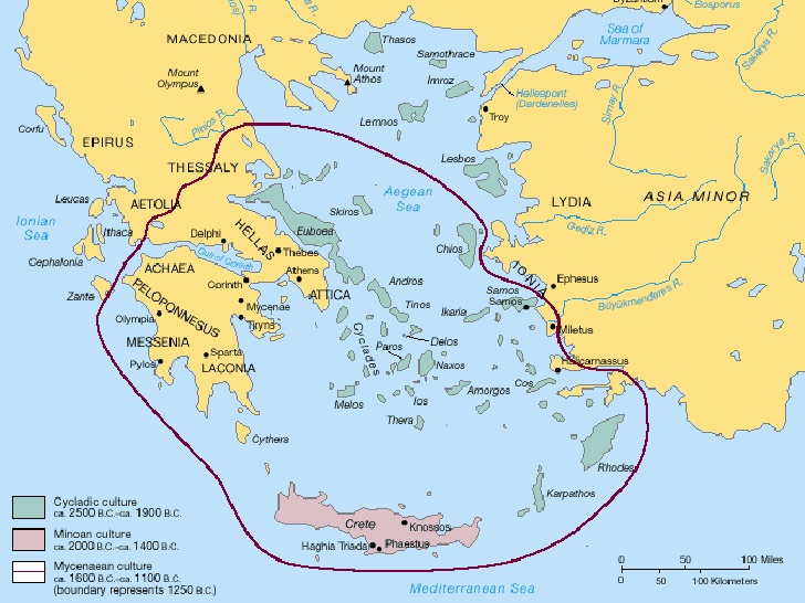 Hellenistic Greece Map.Ancient Greece Minoans And Mycenaeans To The Hellenistic Age