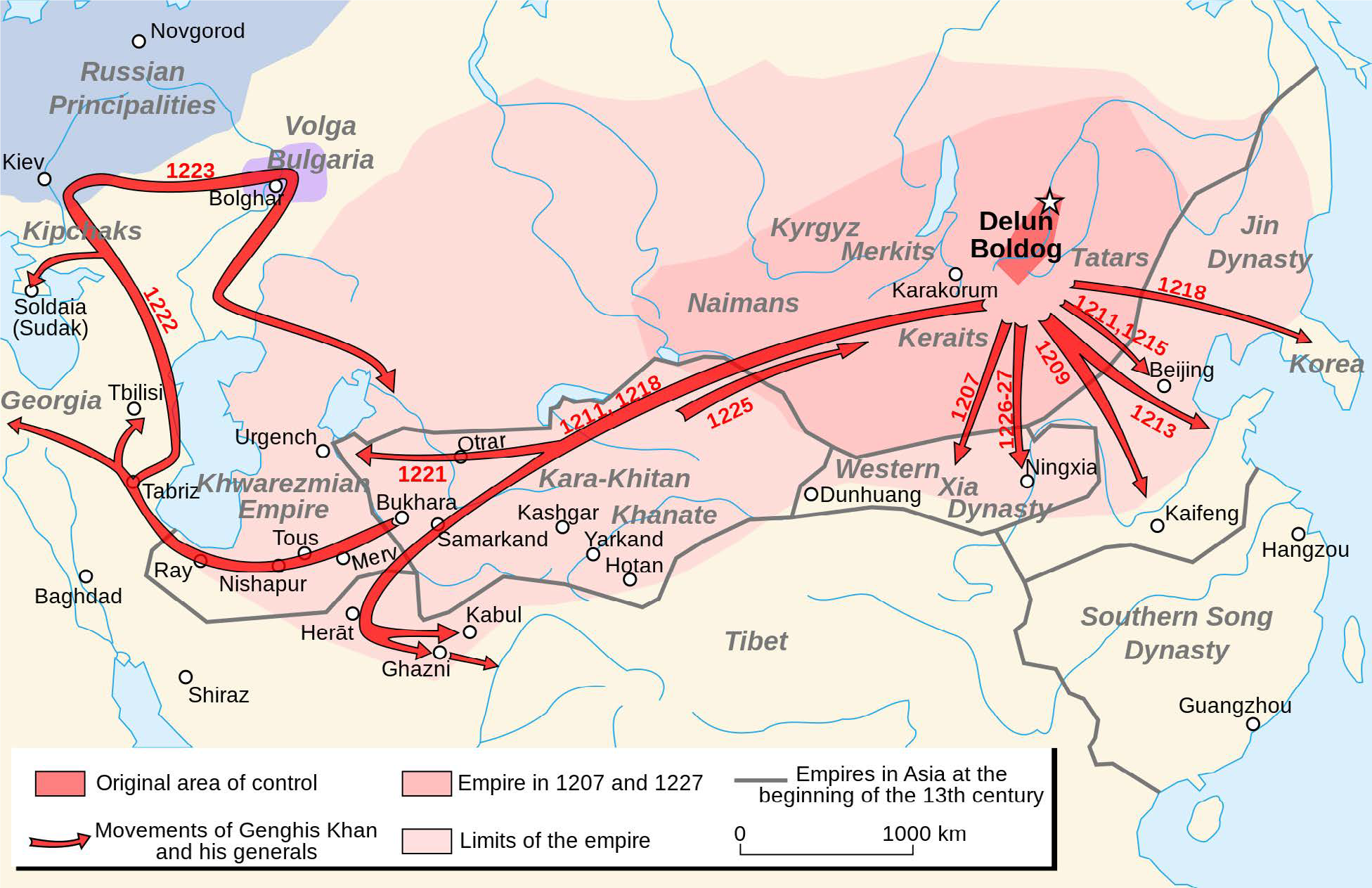 Central Asia: Mongol Empire to the Timurid Dynasty on