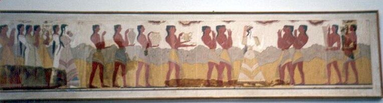 Late Minoan Painting Frescoes Pottery And Other
